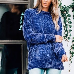 Sweaters - Oversized Chenille Sweater